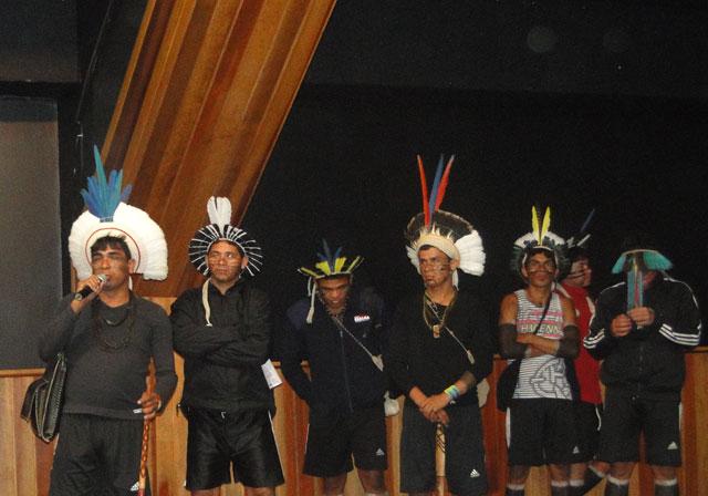 Indígenas estiveram presente na posse da diretoria em 2014