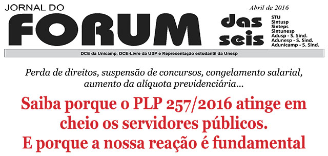 Jornal do Forum das Seis - Abril 2016